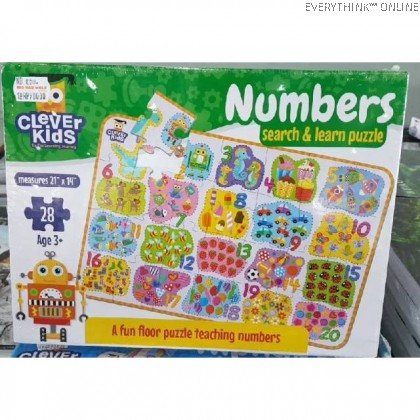 CLEVER KIDS SEARCH & LEARN NUMBERS PUZZLE