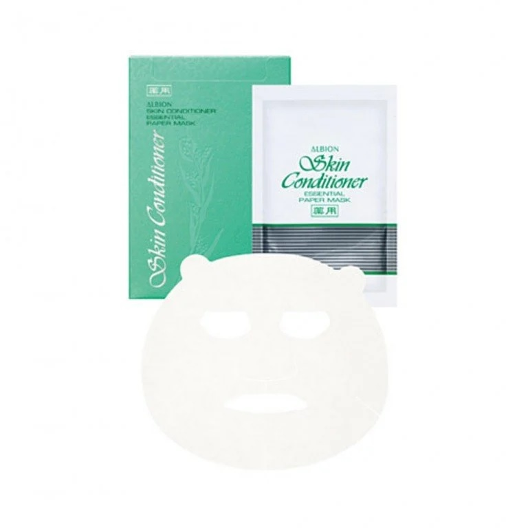 ALBION JAPAN SKIN CONDITIONER ESSENTIAL PAPER MASK 8 SHEETS PER PACK MADE IN JAPEN WHITENING HYDRATING